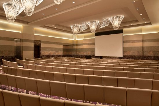 Hilton Capital Grand Abu Dhabi : Ballroom with Theatre-style Seating Setup
