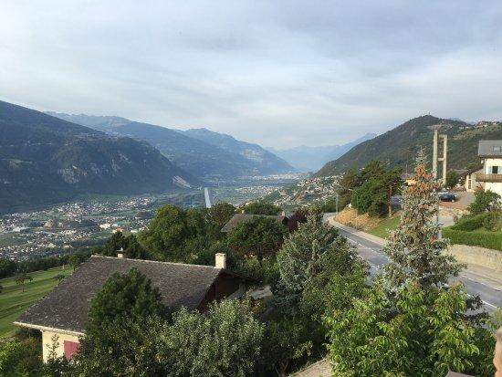 Chermignon-d'en Haut, Schweiz: Aussicht aus dem Hotelzimmer