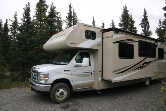 Teklanika River: Campsites are plenty big enough for a big RV (ours was abour 32 feet long)