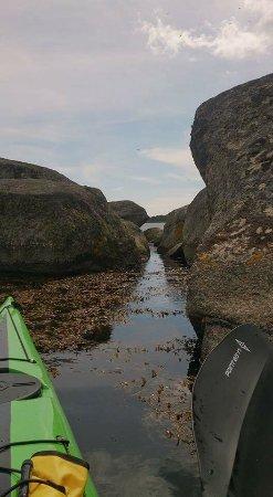 Ronneby, Швеция: En härlig tur med kajakpaddling i vattnen i närheten av Tjärö. En övernattning på ön med en kort