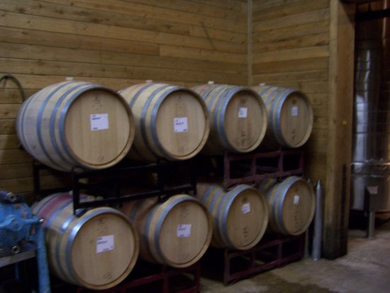 Sisterdale, Τέξας: Wine aging in Oak Barrels