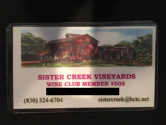 Sisterdale, TX: My Membership Card