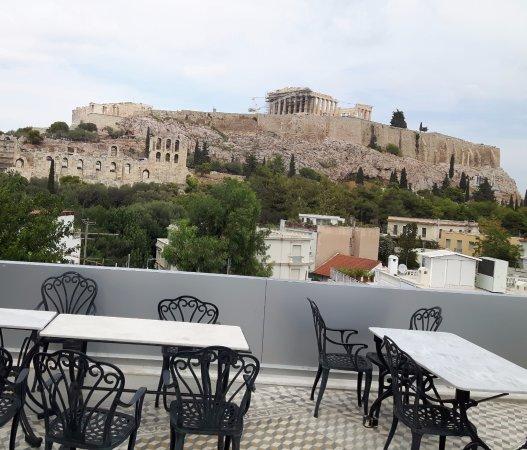 terrazza sul tetto con vista acropoli - Foto di Acropolis View Hotel ...