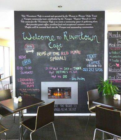 Kaiapoi, นิวซีแลนด์: welcome to Rivertown Cafe