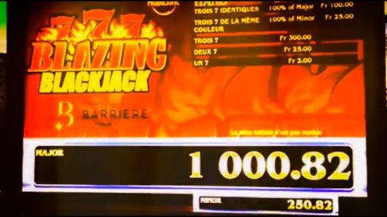 Delémont, İsviçre: 1er en suisse à proposer un multi-jackpot progressif à la table de Black-Jack, au Casino Barrièr