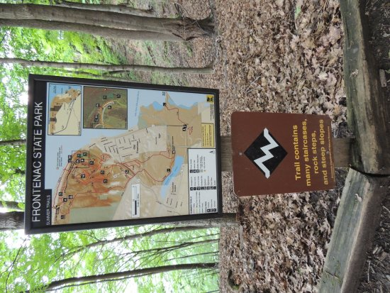Frontenac, มินนิโซตา: Trail map, some difficult trails