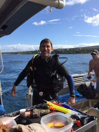 B&B Scuba : Just getting out of my second dive wet and happy with a stupid face! :-)