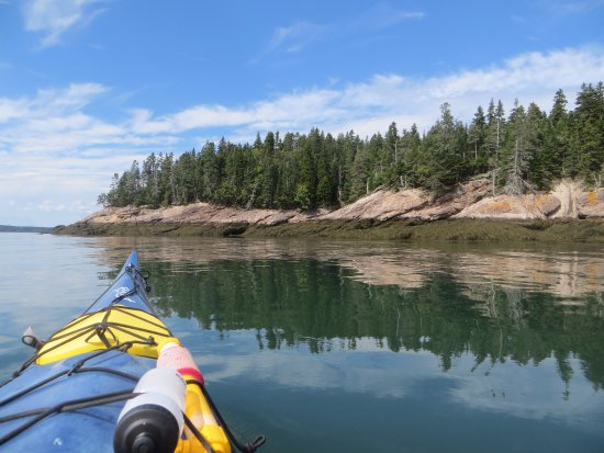 Deer Island, Canada : View from the kayak