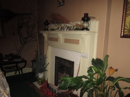 The Inn of the Patriots B & B: Fireplace in our room