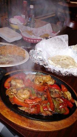 Portage, Индиана: Shrimp fajitas