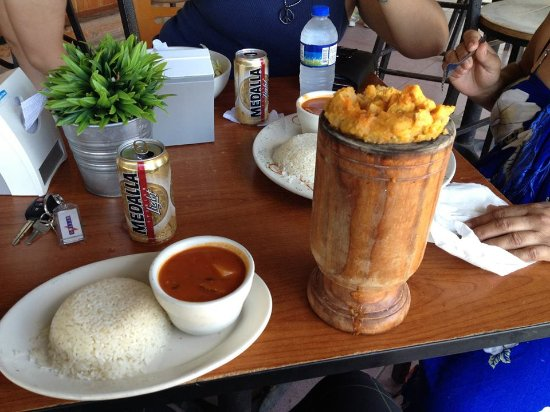 Mofongo with Chicken at Annie's Place