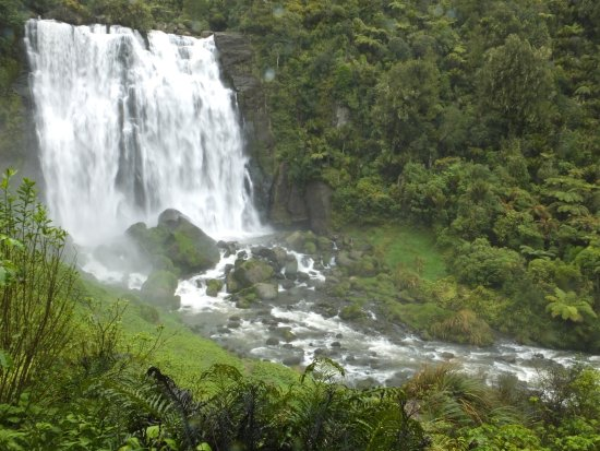 Marokopa Falls: A view from the platform
