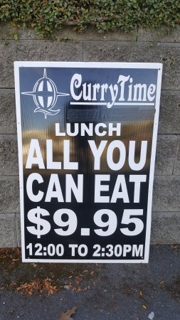 Curry Time Lunch Buffet Sign