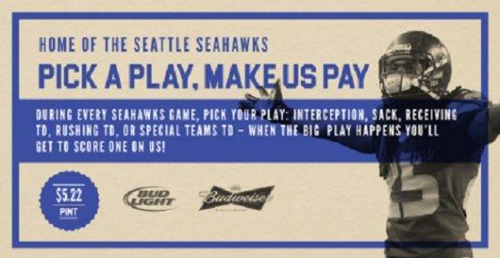 Surrey, Kanada: Footballin' & Play Callin' – It's NFL Season And All BC JRG Public Houses Are Seahawks Houses!
