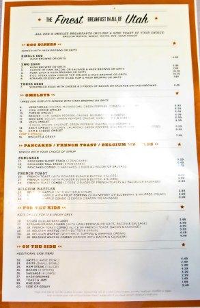 Joe's Cafe: Joe's Menu