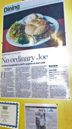 Joe's Cafe: Joe's Accolades
