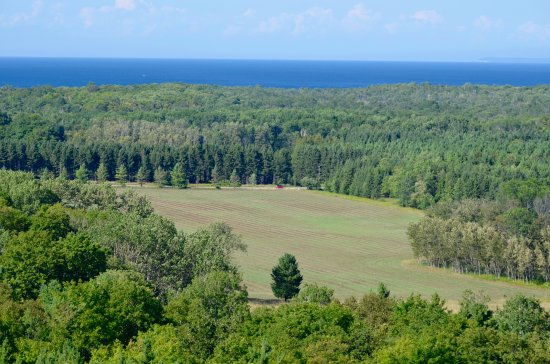 Washington Island, Висконсин: view from lookout