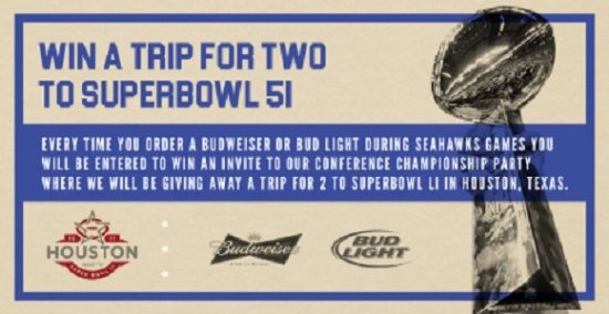 Surrey, Canadá: Win A VIP Trip For 2 To Super Bowl 51!