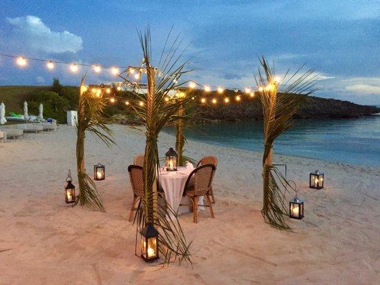 The Cove Eleuthera Private Dinner Setup On Beach