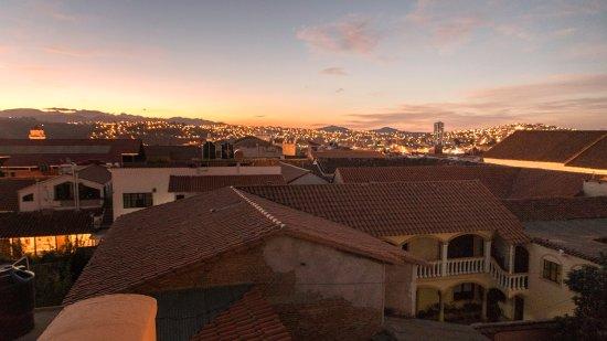 Hotel Villa Antigua: Genieten van ondergaande zon op het dakterras
