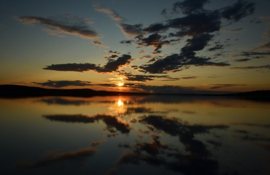 Porjus, Sverige: Enjoy the midnight sun as seen from the apartment
