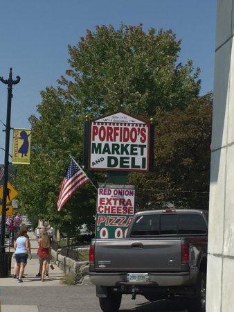 Porfido's Market & Deli: Porfido's sign