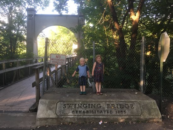 "River Falls, WI: A quick trip to the ""Jumping Bridge"" as my kids like to call it"
