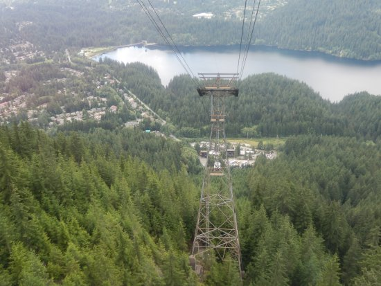 North Vancouver, Canadá: View up the top Grouse Mountain