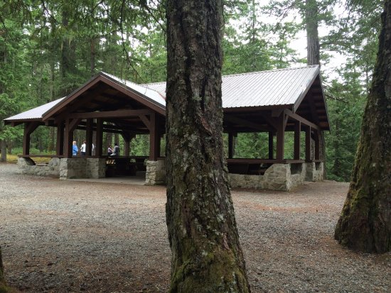 Little Qualicum Falls Provincial Park: Picnic area and covered tables