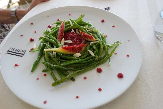 La Reserve: ...Bohnensalat mit Feigen
