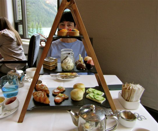 afternoon tea, fairview dining room, lake louise. - picture of