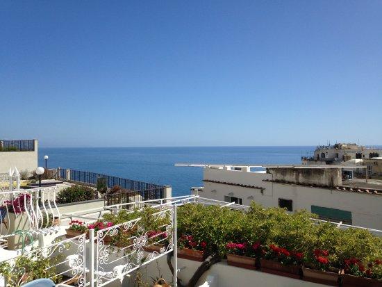 Hotel Villa delle Palme Positano first floor terrace view