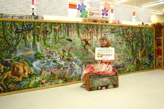 Fergus, Kanada: This 33,600 piece puzzles now hangs from our ceiling