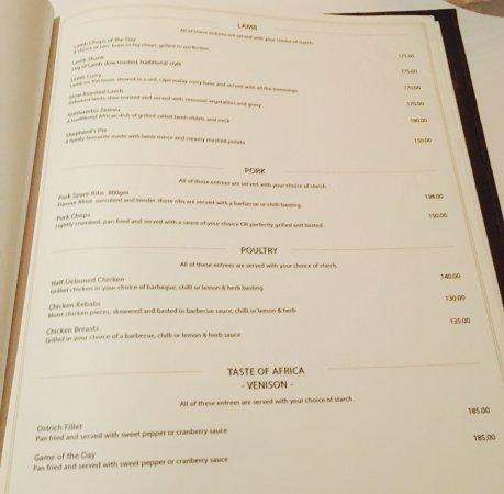 South Beach Bar And Grille Menu