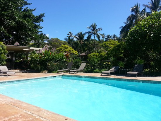 Poipu Crater Resort: Pool and bbq area, steps away from villa #29
