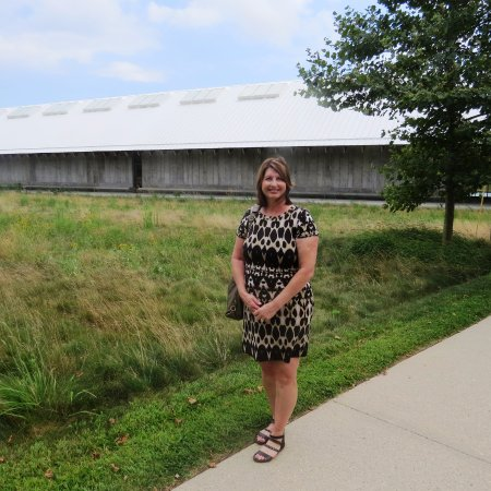 "Parrish Art Museum: in front of the ""barn-like"" structure"