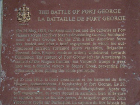 Fort George National Historic Site of Canada: Info about the battle of Fort George