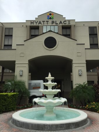 Poke stop outside the hotel - Picture of Hyatt Place Tampa Airport ...