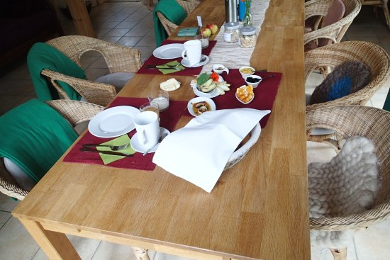 Chorin, Tyskland: Breakfast table