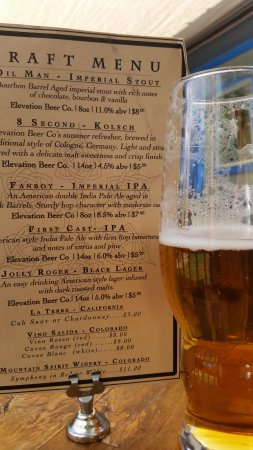 Crestone, CO: Draft beer menu