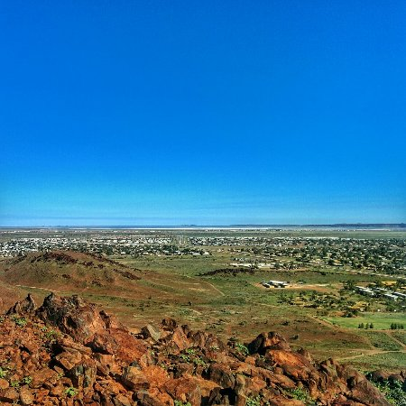 Karratha, Austrália: View from the top of the climb