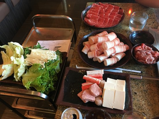 Alhambra, Californien: Different meat selections