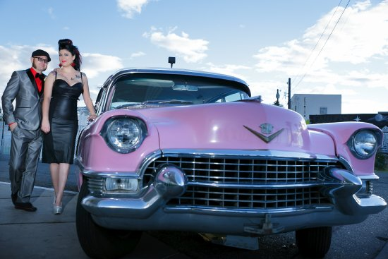 A Wedding Chapel In Las Vegas: Our pink cadillac is the only original 1955 replica of the one Elvis drove