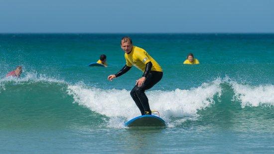 Smart Surf School: Standing up
