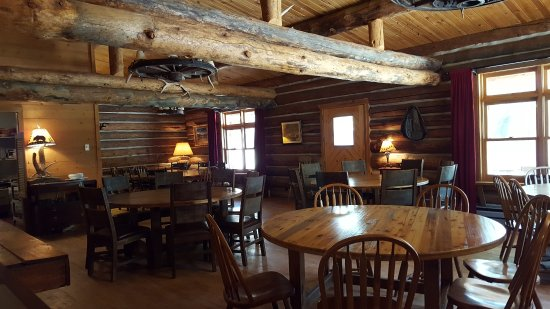 Dubois, WY: Lazy L&B dining room in the Lodge