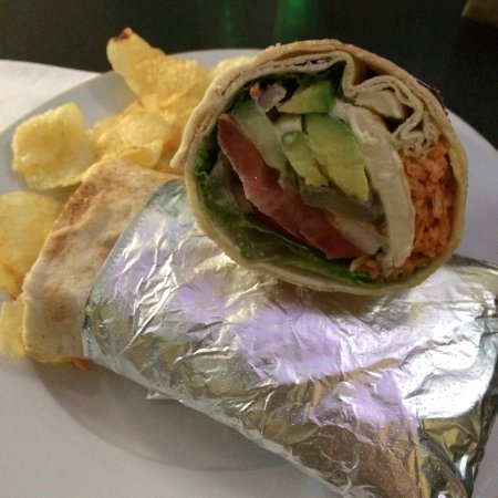 Cafe Bishco: Veg and Brie Wrap