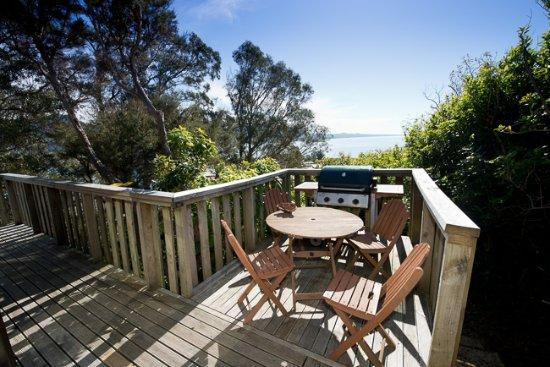 Collingwood, Nieuw-Zeeland: Cottage deck view