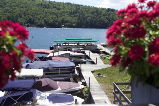 Squam Lakes Natural Science Center : From the street, a view of the boat launch where cruises depart.