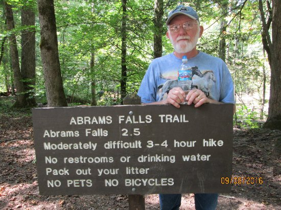 Cosby, TN: At the head of Abrams Falls Trail in Cades Cove area.