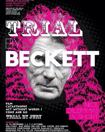 Trial By Beckett, coming soon to the Creswick Courthouse Theatre, tickets on eventbrite website